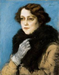 Terka Linzer, 1923 - Jozsef Rippl-Ronai. Modernismo