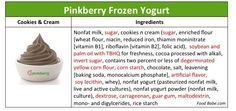 """Whenever someone tries to say """"fro-yo"""" is sooo much healthier than ice cream...show them this article by FoodBabe. Apparently it's made with a """"pre-packed liquid that looks NOTHING like yogurt and more like kool-aid, depending on the flavor in a plastic jug."""" Yumm...."""