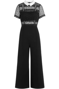 Self-Portrait - Lace Panel Jumpsuit with Culottes Pretty Outfits, Cool Outfits, Fashion Outfits, Fashion Fashion, Pretty Lingerie, Party Fashion, Fashion Stylist, Korean Fashion, Casual Dresses