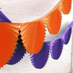 Halloween Party Fan Garland Bunting | From trick or treating and pumpkin carving, to watching scary movies and having a party, there's so much you can enjoy on the spookiest night of the year. Time to get Halloween-ready.