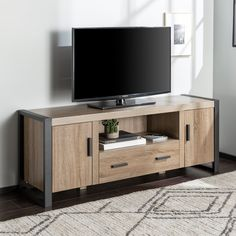 Driftwood 60 Inch Urban Industrial Wood TV Stand - Urban Blend | RC Willey Furniture Store