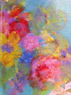 pastel floral - art by lori sparkly franklin find my art on Etsy - sparklyheartstudio