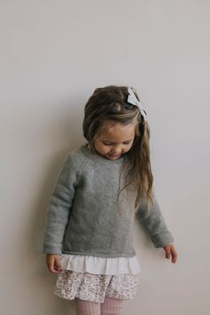 little girl style Frill Knit - Light Grey Marle Little Kid Fashion, Kids Fashion Boy, Toddler Fashion, Toddler Girl Style, Toddler Girl Outfits, Kids Outfits, Trendy Outfits, Baby Style, Baby Outfits