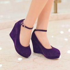 2015-Hot-Womens-Party-Faux-Suede-Wedge-High-Heel-Platform-Ankle-Strap-Pump-Shoes