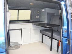 Olympian Blue T5 Camper Interior - VW Camper Interiors - Camper Conversions - Kustom Interiors Cornwall