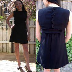 vintage 60's black mod mini dress by Lanz by lovestoryvintage, $28.00