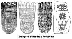 Buddha's Footprint tattoos - what do they mean? Tattoo Meanings, Tattoos With Meaning, Temples, Footprint Tattoo, Bed Of Nails, Buddha Temple, Body Map, Buddhist Art, Surfboard