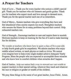 Teacher's Prayer | School Stuff | Pinterest | Teacher ...
