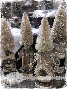 **My Desert Cottage**: Glittery Bottle Brush Trees