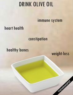 BENEFITS OF DRINKING OLIVE OIL