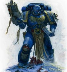 The Ultramarines base their ideals upon the teachings of Roboute Guilliman, who ended up on a neo-Roman planet and soon adopted their way of thinking. They believe in individual strength to strengthen the whole (and not for the betterment of one self), and in following the rules, however strict they might be. This way, order is maintained in all things.