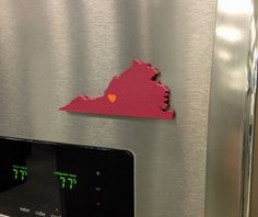 """Virginia Tech Hokies """"State Heart"""" magnet, handcrafted wood with official team colors Tech Tech, Virginia Tech Hokies, Silhouette Cameo Projects, Southern Charm, Dorm Decorations, Purple Gold, Tailgating, Decorative Items, Crafts To Make"""