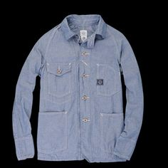 UNIONMADE - Post Overalls - Engineers Jacket in Southern Chambray Indigo