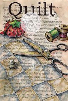 Dictionary Art - Quilt