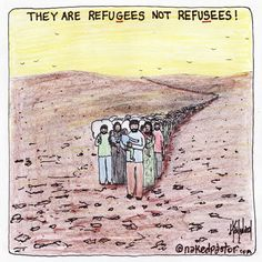 Refugees not Refusees CARTOON New Item from Naked Pastor