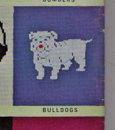VINTaGE AFL FOoTBALL WESTERN BuLLDOGS CHILdS by Crafting4Ever2013, $2.00