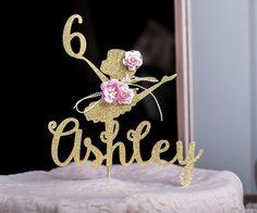 Bailarina Cake Topper, Ballerina centros de mesa, bailarina fiesta cumpleaños decoraciones - adorno de torta personalizado bailarina