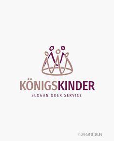 EXKLUSIVES Logo Krone Kinder Menschen | LogoAtelier.eu