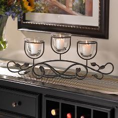Leaf Trellis™   Candle Centerpiece