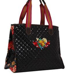 Black Consuela Look Alike Purse Tote Bag-Black 7d14f2babf349