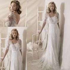 Discount Romantic Bohemian Soft A Line Half Bell Sleeves Square Neckline Wedding Dresses Lihi Hod 2018 Bridal Full Embellishment Medium Train Second Wedding Dresses Silver Wedding Dresses From Zhiyuanwedding999, $1005.03| DHgate.Com Low Back Wedding Gowns, Country Wedding Gowns, Second Wedding Dresses, Sheer Wedding Dress, Wedding Dress Necklines, Sweetheart Wedding Dress, Tea Length Wedding Dress, Princess Wedding Dresses, Lace Wedding