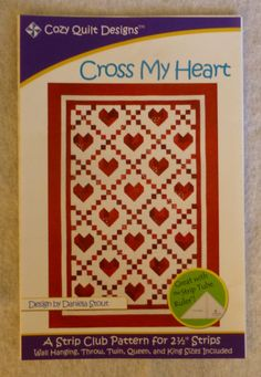 Pattern Cross My Heart by Cozy Quilt by SuesFabricNSupplies, $8.95