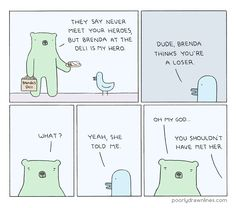 I'm Reza. I make a comic called Poorly Drawn Lines.