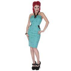 Voodoo Vixen Green Martini Kitsch 50S Fifties Cocktail Party Pencil Wiggle Dress | eBay