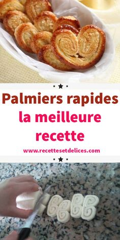 Fast palm trees: the best recipe Biscuits Palmier, Desserts Thermomix, Baby In Pumpkin, Pumpkin Spice Latte, Beignets, Sweet Cakes, Deserts, Good Food, Puddings