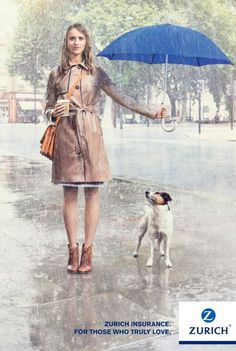 Zurich Insurance Company: Holding an umbrella over you.  How adorable.