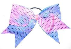 Tie Dye Sequin Cheer Bow by Justcheerbows on Etsy, $10.00