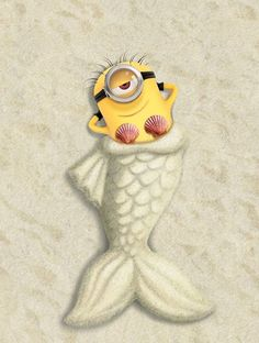 Minion mermaid...I couldn't help myself.