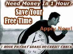 1 Hour Payday Loans No Credit Check arranges quick cash for you within an hour whatever are your financial needs. At 1 Hour Payday Loans No Credit Check you can get loans for each and every financial purpose. Apply now and save your valuable time!  www.1hourpaydayloansnocreditcheck.com