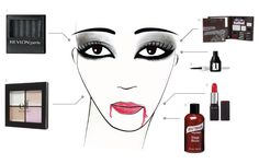 VAMPY VAMPIRE   Beauty How-To: Halloween Makeup Face Charts