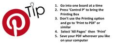 How to Save a Copy of your Pinterest Boards as a PDF?  #tip #Pinterest