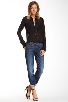 Logan Mid Rise Relaxed Cuffed Jean on HauteLook