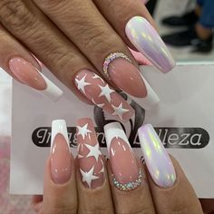 Pink Glitter Nails, Fancy Nails, Toe Nail Designs, Acrylic Nail Designs, White Nail Art, Best Acrylic Nails, Nail Polish Art, Dope Nails, Winter Nails