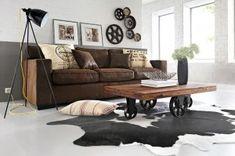 tendance décoration d'intérieur 2011 printemps été naturel industriel meubles originaux lampe mandarine rouages et patiné