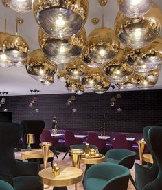 Interior Design I Harrods London I Mirror Ball Gold by Tom Dixon