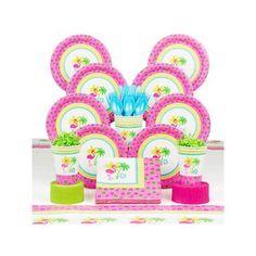 Flamingo Fun Deluxe Kit (Serves 8) - Party Supplies