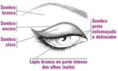 Revista das Garotas: Maquiagem para aumentar os Olhos