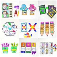 Back to School Preschool and Kindergarten Learning Materials Continents Activities, Counting Activities, Preschool Learning Activities, Work Activities, Kids Learning, Learning Time, Sensory Activities, Teaching Ideas, Montessori Color