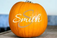 Halloween Pumpkin Last Name Monogram by 4HeartsDecor on Etsy. , via Etsy.