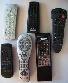6 #Remote Control TV and VCR LOT #Magnavox #Jensen #Sony #Zenith Philips #mixedlot