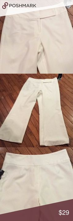 🌹Winter White Dress Pants🌹 🌹Fully lined🌹Two hooks and zipper for closure in front🌹no pockets🌹inseam is 31 inches🌹rise is 11.5 inches🌹23 inch circumference at leg opening🌹 Allison Taylor Nights Pants