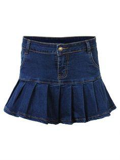 Only US$32.69 , shop Sexy Women Summer Zipper Pleated Ruffle Denim Mini Skirt at Banggood.com. Buy fashion Skirts online.