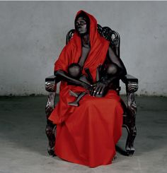 I have a thing for Madonnas.  The name of this piece is Black Madonna with Twins.