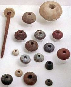 Spindle whorls (from Birka, Sweden?) Link is about Norse clothes and how they were made (and doesn't say the whorls are from Birka)
