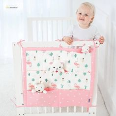 Baby's Bed Hanging Storage Organizer Price: 23.04 & FREE Shipping #repost Hanging Crib, Hanging Storage, Hanging Organizer, Crib Bedding Boy, Baby Bedding Sets, Tree Bed, Baby Safe, Baby Cribs, Baby Beds