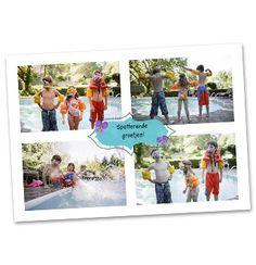 Vier liggende foto's in 1 kaart. #Hallmark #HallmarkNL #foto's #vakantie #fotokaart